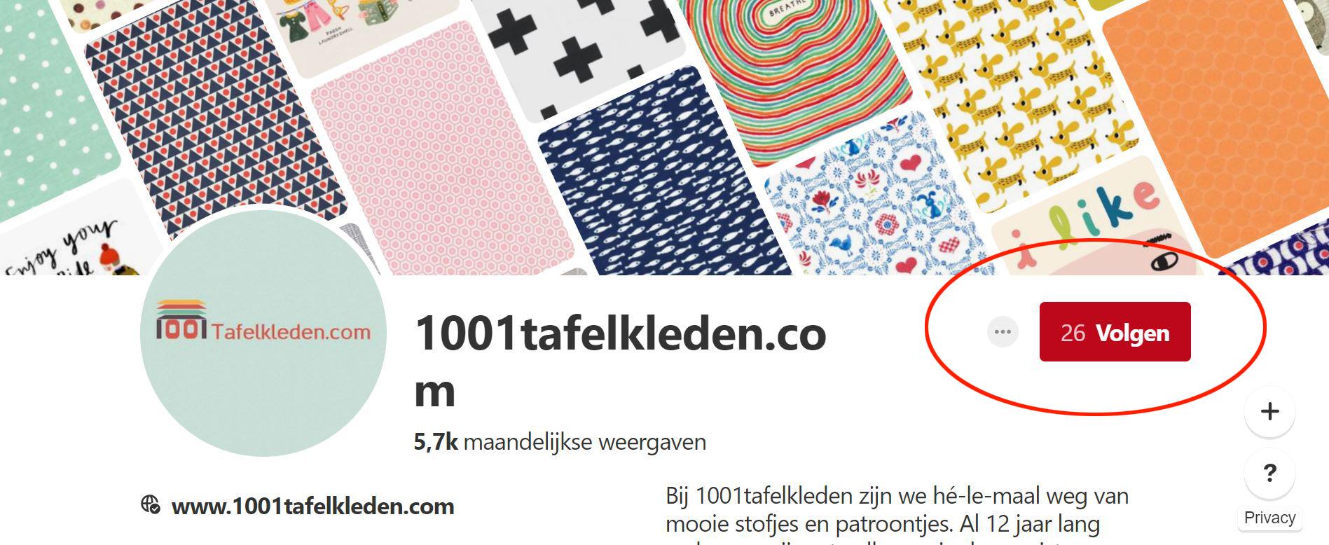 Volg 1001tafelkleden op Pinterest